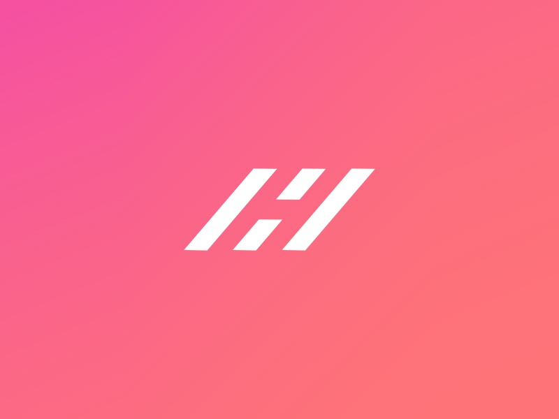 What Do You See? h simple vector road logo icon