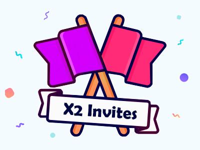 Join The Game!!! invite dribbble illustration invitation flag
