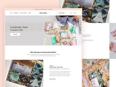 Inna|Carton modern ux ui clean shop corporate wedding gifts website ecommerce