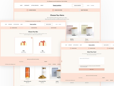 Build Your Carton custom gift shop clean ecommerce design ui website gifts