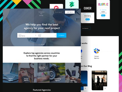 Landing Page - WIP!!! rating review landing page ui web companies agency ui design