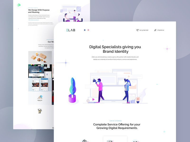 Landing Page for Creative Agency illustration design landing page single page colorful creative design digital illustration agency website design minimal illustration website ux ui