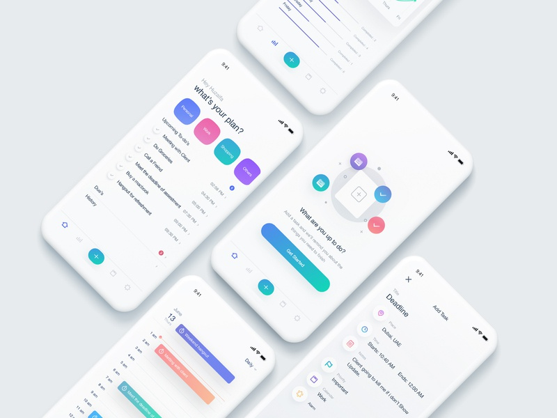 Simple To-Do App productivity task list task management colorful simple design simple clean interface clean ui mobile app design ui design mobile ui