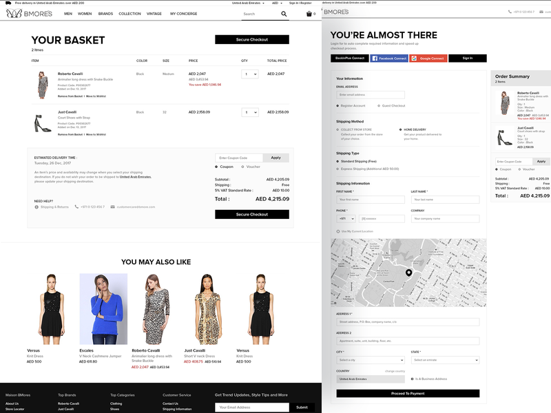 Cart & Checkout online store online shopping checkout process checkout form checkout page shopping cart cart ux desgin ui design