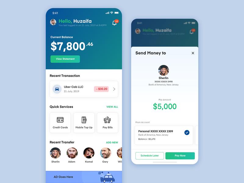 Mobile Banking ios app app design mobile app mobile ui design online bank bank app ux design ui design