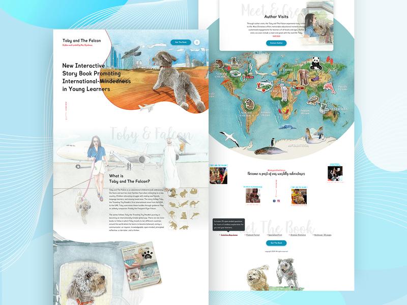 Educational Children Book book animal illustration dog illustration clean ui illustration ui design education website website landing page educational book children book