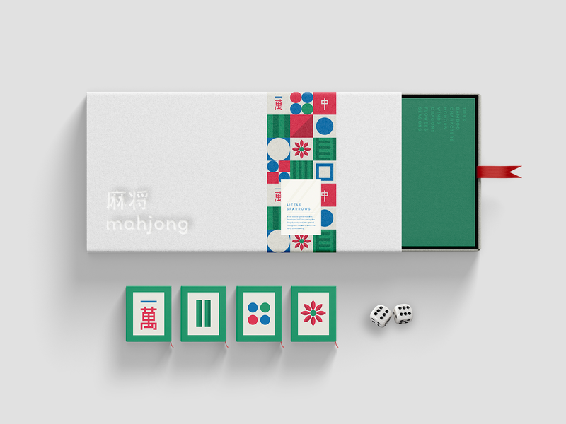 #33 Weekly Warm-up: Mahjong Game dribbbleweeklywarmup abstract packaging board game weekly challenge weeklywarmup mahjong