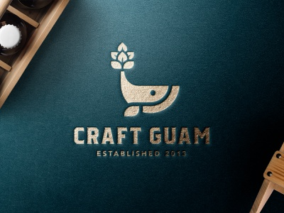 Craft Guam Logo neekodavid guahan craft minimal logo craftbeer beer logo beer hop whale logo whale craft guam logo craft beer guam brewery guam beer guam craft guam