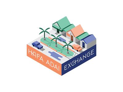 Hafa Adai Exchange graphic design guam market isometric design isometric guam hafa adai hafa adai exchange