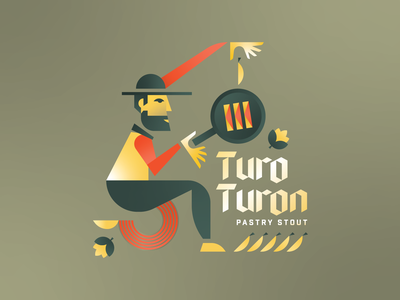 Turon Beer turon beer turon howsit brewery guam beer geometric filipino beer filipino craft beer beer label beer banana abstract
