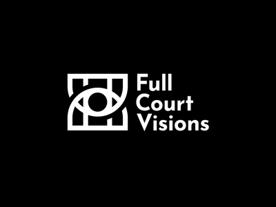 Full Court Visions abstract visions logo construction logo design graphic design basketball logo eye logo eye fullcourt basketball full court visions