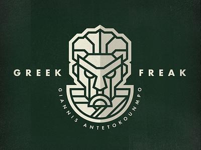Greek Freak sports nba milwaukee bucks killer robot greek logo nba logo sports logo giannis antetokounmpo greek freak