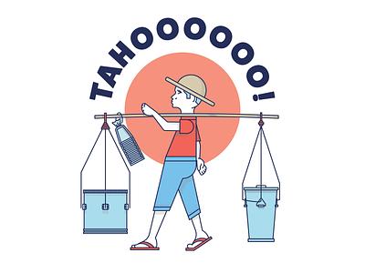 Tahoooooo! taho guy logo illustration graphic design filipino food philippines street vendor magtataho taho