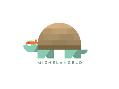 Turtle Power Michelangelo