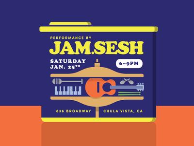 Jam Sesh Band Poster