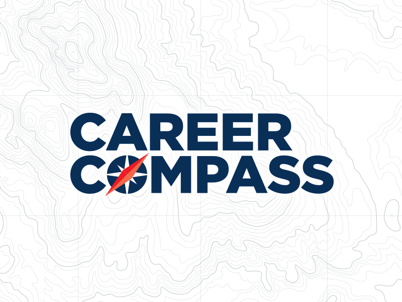 Career Compass career compass hr gotham topographic map logo icon accounting internal communications