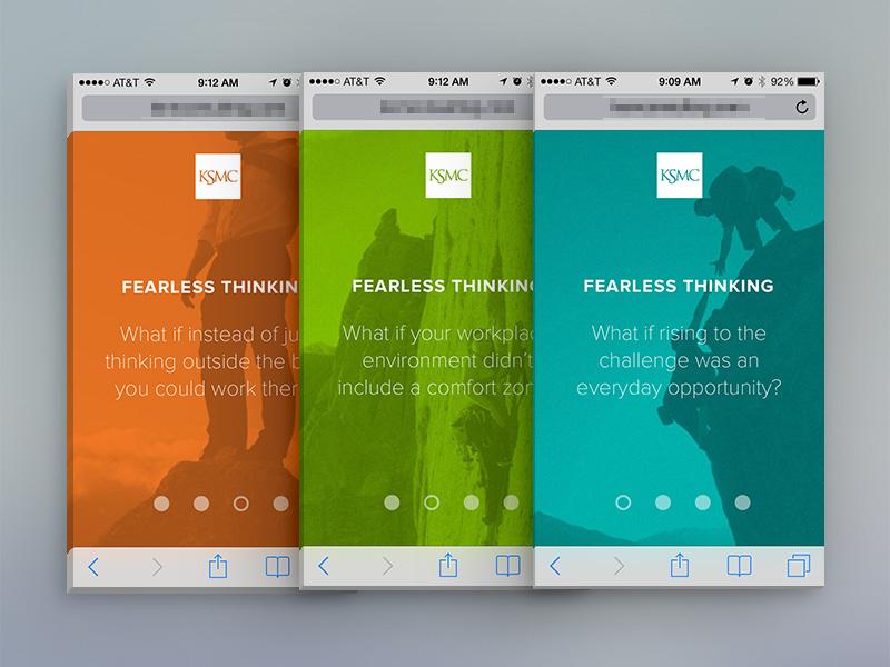 Responsive microsite for corporate recruiting web responsive mobile microsite color bright