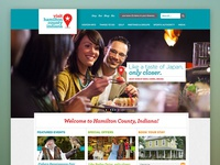 Home page for a Convention & Visitor's Bureau