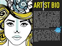 Artist bio page for Portfolio presentation #wip