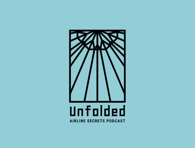 Unfolded | Paper Airplane Logo | Daily Logo Challenge Day 26