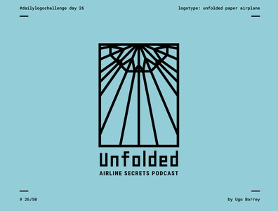 Unfolded | Daily Logo Challenge Day 26 | Paper Airplane