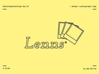 Lenns | Daily Logo Challenge Day 25 | Photography Logo