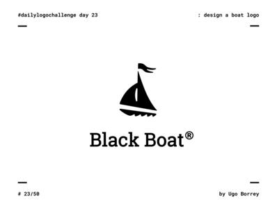 Black Boat | Daily Logo Challenge | Day 23