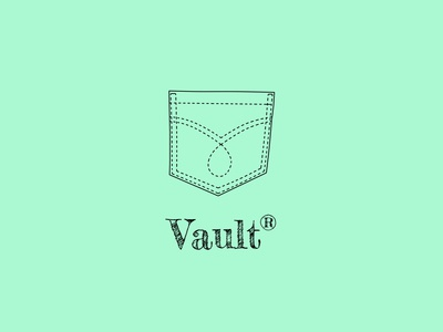 Vault Jeans | Daily Logo Challenge Day 28