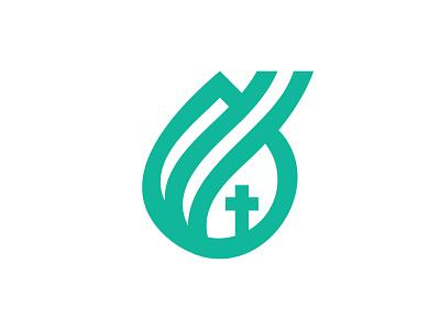 Church of the Magdalen Mark logo design mary magdalen magdalen catholic branding mark icon logo