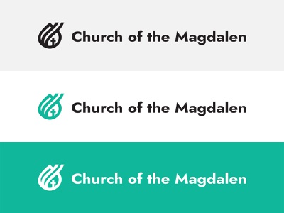 Church of the Magdalen Full Logo catholic logo mary magdalen magdalen catholic web design branding logo