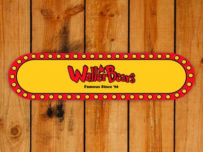 Waller Bears Bojangles Skateboard Deck