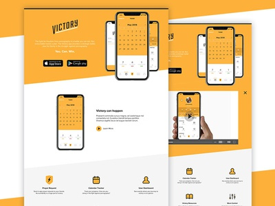 The Victory App Landing Page