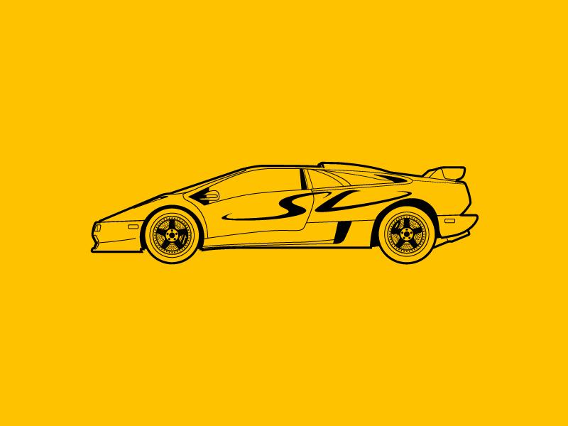 Lamborghini Diablo Sv By Dan Ioanitescu Dribbble Dribbble