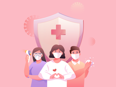Stay safe staysafe mask doctor illustrator art illustrator illustration coronavirus corona covid19 covid-19