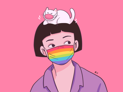 Pride san francisco colorful rainbow lgbtq lgbt pride savana character art illustrator art rynguyen artist painting illustrator drawing artwork illustration