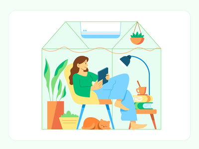 COVID Reality — Work From Home remote ry nguyen work illustration work covid19 wfh work from home character people girl ui animation vector 2d illustration woman illustration woman tutorial artwork illustrator illustration