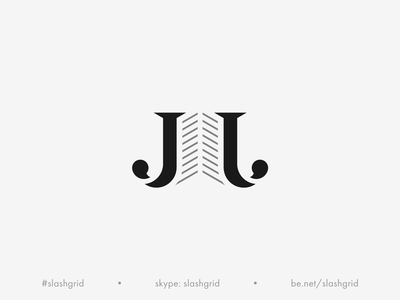 JJ Real Estate Logo letter logo identity idea housing icon jj building real estate logo real estate creative typography black simple negative space clean mark monogram logo branding minimal