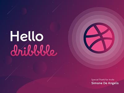 Hello Dribbble! design dribbbleshot debutshot invitation hello dribbble dribbblers dribbble debut firstshot dribbble