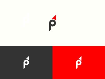 P + Compass Logo Design