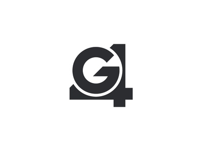 G4 Logo vector simple black g letter typogaphy symbol 4 number mark monogram minimal clean icon design brandmark branding brand abstract logo g4