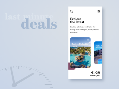 Last minute deals - Travel app concept