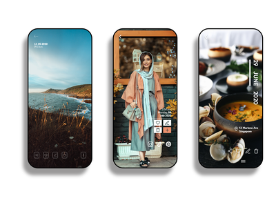 Gallery - Photo options experience redefined mobile widget mobile photography photo app gallery app