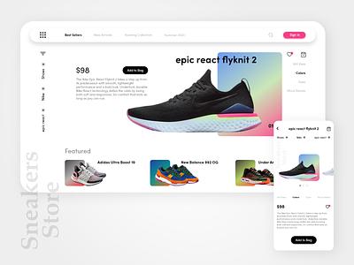 Sneakers Store: e-commerce concept sneakers e-commerce shop e-commerce design ecommerce design e-comerce