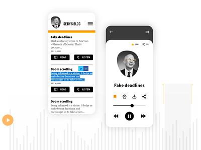 Audio Blog Concept blog ebook audio app audiobook