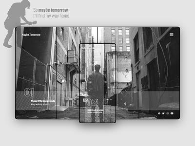 Maybe Tomorrow clean ui responsive design music artist music music app