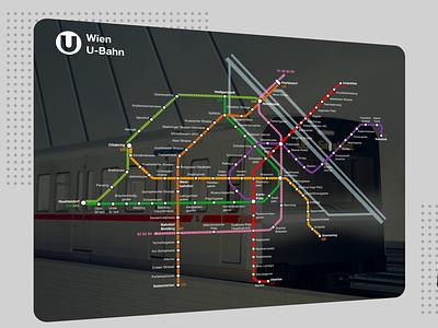 City Metro Concept - exploration design vienna wien u-bahn metro ui metro city