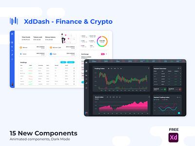 XdDash - Finance & Crypto ui kit crypto ui finance ui dashboard kit dashboard ui dashboad xd ui kit