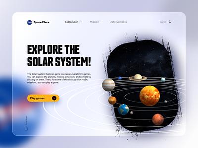 Nasa Space Place - redesign concept landing design landing page design solar system space nasa