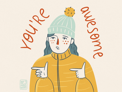 A - awesome flat girl thestyleclassillustration wellbeing art procreate illustration