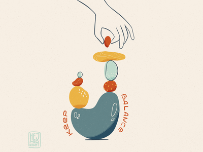 B - balance rocks balance thestyleclassillustration wellbeing flat art procreate illustration